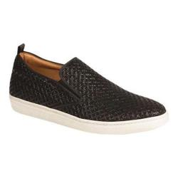 Men's Mezlan Moneo II Slip-on Sneaker Black Laser Embossed Suede