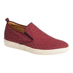 Men's Mezlan Moneo Slip-on Sneaker Burgundy Embossed Suede