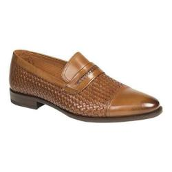 Men's Mezlan Moya Penny Loafer Tan Embossed/Burnished Calfskin