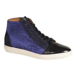 Men's Mezlan Pons High Top Sneaker Blue Velveteen/Calfskin/Suede