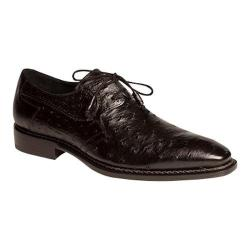 Men's Mezlan Romano Black Genuine Ostrich