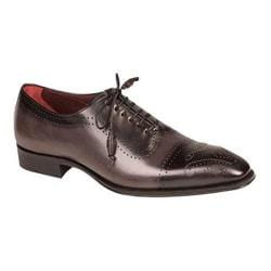 Men's Mezlan Serrano Cap Toe Black/Grey Bi-Color Calfskin