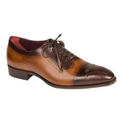 Men's Mezlan Serrano Cap Toe Brown/Tan Bi-Color Calfskin