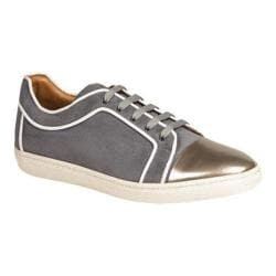 Men's Mezlan Valeri Sneaker Silver Grey Calfskin/Piped Suede