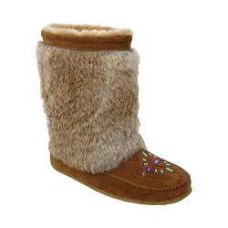 Women's Minnetonka Rainier Mukluk Boot Dusty Brown Suede