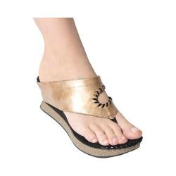 Women's MODZORI Tita Thong Sandal Gold/Pewter
