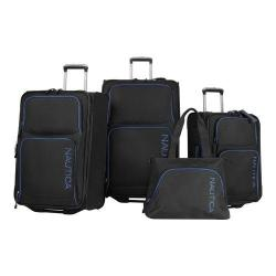 Nautica Catamaran 2 Four Piece Luggage Set Black/Alpine Blue