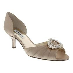 Women's Nina Crystah Champagne Crystal Satin