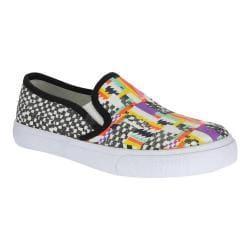 Girls' Nina Evetta Slip-On Sneaker Multi Cotton Canvas