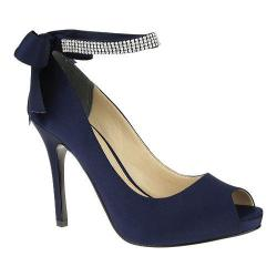 Women's Nina Karen New Navy Luster Satin