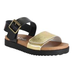 Girls' Nina Kathi Sandal Black Tumbled/Gold