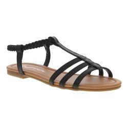 Girls' Nina Melvie Sandal Black Smooth