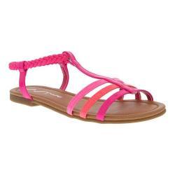 Girls' Nina Melvie Sandal Pink-Multi Patent