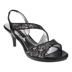 Women's Nina Newark Sandal Black/Silver Glitter