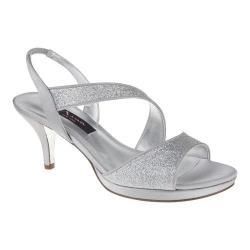 Women's Nina Newark Sandal Silver Baby Glitter/Luster Satin