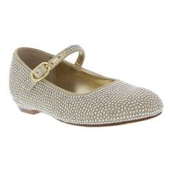 Girls' Nina Zelia T Mary Jane Gold Satin/Studs