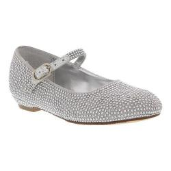 Girls' Nina Zelia T Mary Jane Silver Satin/Studs