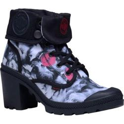 Women's Palladium Baggy Heel TW P Ankle Boot Black/White/Red/Roses