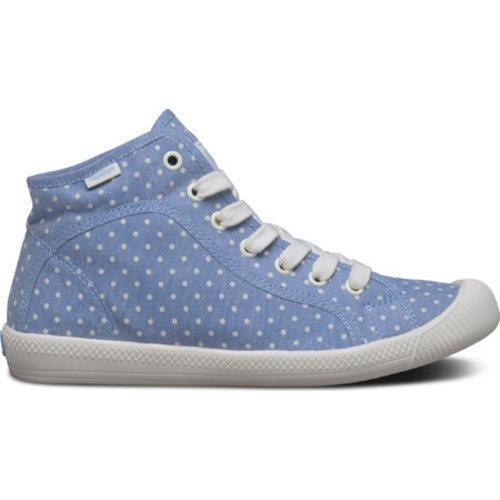 ... Women's Palladium Flex Lace Mid PD High Top Blue/Antique White ...