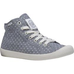Women's Palladium Flex Lace Mid PD High Top Gray/Antique White/Polka Dots