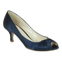 Women's Pink Paradox London Romantic Peep-Toe Pump Navy Satin
