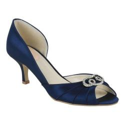 Women's Pink Paradox London Amelia Peep-Toe Pump Navy Satin