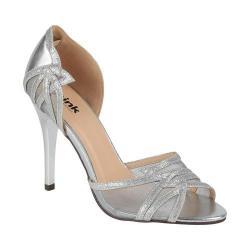 Women's Pink Paradox London Lara d'Orsay Heel Silver Glitter