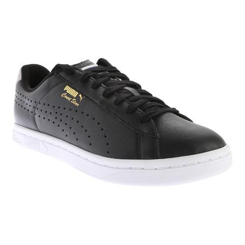 52f41653e698 Shop Men s PUMA Court Star Crafted Sneaker Black Glacier - Free Shipping  Today - Overstock.com - 11794629