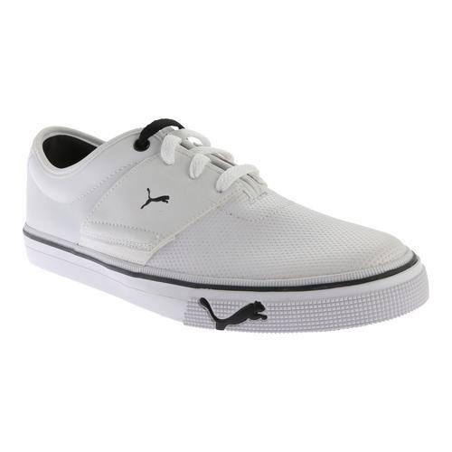 Shop Men s PUMA El Ace Core + Sneaker White - Free Shipping Today -  Overstock - 11794655 2e3d093bb