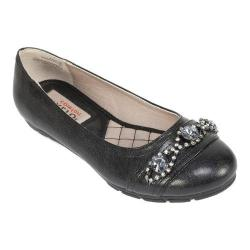 Women's Rialto Garner Ballet Flat Black Smooth Synthetic