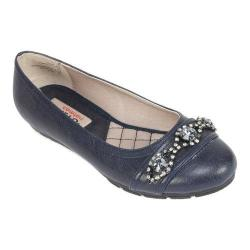 Women's Rialto Garner Ballet Flat Navy Smooth Synthetic