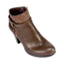 Women's Rialto Popcorn Ankle Bootie Espresso Burnished Smooth Synthetic