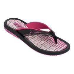 Women's Rider Dunas IX Thong Sandal Pink/Black