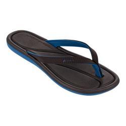 Women's Rider Plush III Thong Sandal Blue/Brown
