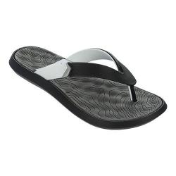 Men's Rider R1 Plus II Thong Sandal Black/White/Grey