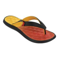Men's Rider R1 Plus II Thong Sandal Black/Yellow