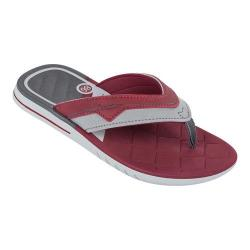 Men's Rider Sevilha Thong Sandal Grey/Red