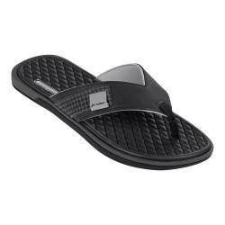 Men's Rider Valencia Thong Sandal Black/Gray/Black