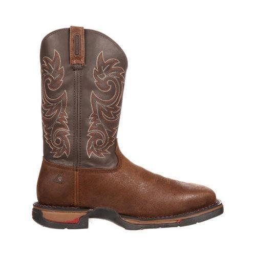 Men's Rocky 12in Long Range Western WP Steel Toe 6654 Boot Coffee Leather - Thumbnail 1