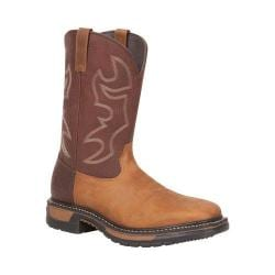 Men's Rocky 11in Western Original Ride Square Toe RKYW037 Saffron Brown/Bridle Brown