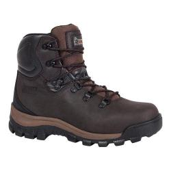 Men's Rocky 6in Core Hiker Insulated WP 2421 Dark Brown Full Grain Leather/Textile