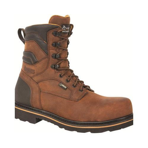 37a62695e8b5 Shop Men s Rocky 8in Governor Gore-Tex CT Work Boot RKYK004 Brown Full  Grain Leather Nylon - Free Shipping Today - Overstock - 11795430