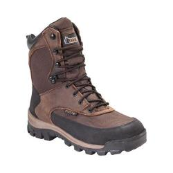 Men's Rocky 8in Core Insulated Outdoor Boot WP 4753 Brown Full Grain Leather/Textile