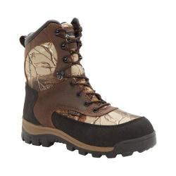 Men's Rocky 8in Core Insulated Outdoor Boot WP 4754 Brown/Realtree AP Full Grain Leather/Nylon