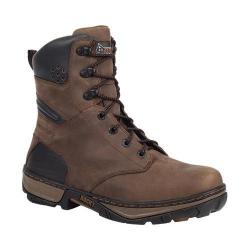 Men's Rocky 8in Forge Waterproof Insulated Work Boot RK061 Darkwood Full Grain Leather
