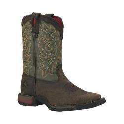 Children's Rocky 8in Long Range Western 2570 Tan/Green Full Grain Leather