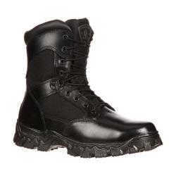 Men's Rocky AlphaForce Zipper 8in 6173 Black Full Grain Leather