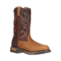 Men's Rocky Branson Roper Protective Toe 6732 Aztec Crazy Horse/Bridle Brown