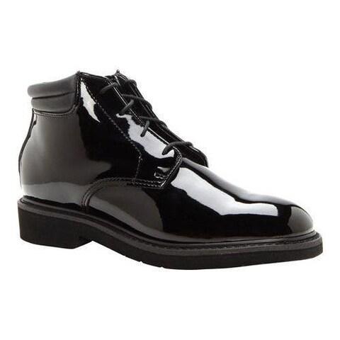 Men's Rocky High Gloss Dress Leather Chukka 500-8 Black Full Grain Leather