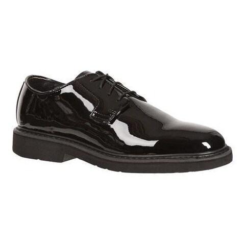 Men's Rocky High Gloss Dress Leather Oxford 510-8 Black Full Grain Leather